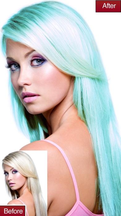 Haarfarbe andern app ios