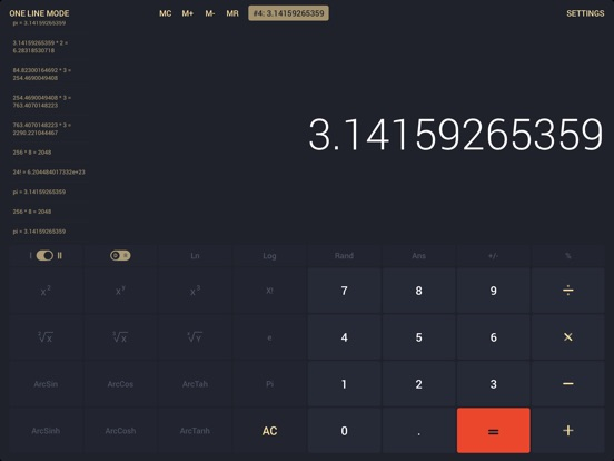 Screenshot #5 for Calcly: Free Universal Calculator for iPad