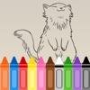 免費兒童圖畫書 - 素描可愛的貓學習趣味
