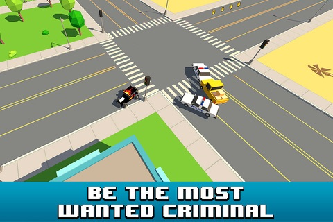 Smashy Car Race 3D: Pixel Cop Chase Full screenshot 1