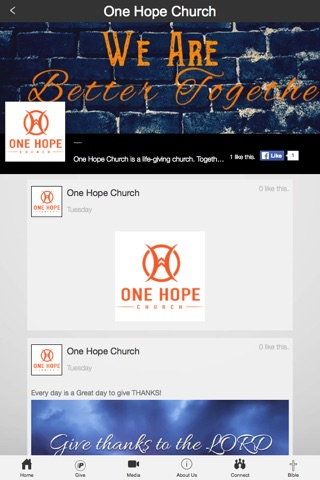One Hope Church screenshot 2