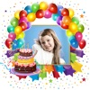 Birthday Photo Frames – Write Or Draw Your Wishes And Make Cute Happy B'day Cards With Pic Editor