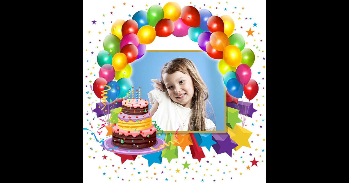 Birthday Photo Frames   Write Or Draw Your Wishes And Make ...