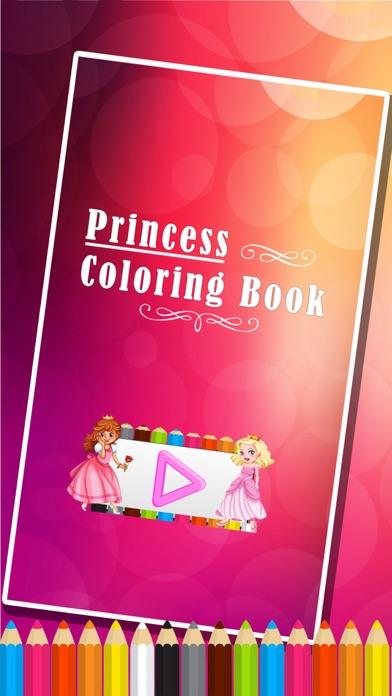 princesse des pages à colorier - Jeux de peinture pour les enfantsCapture d'écran de 1