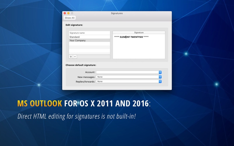HTML Email Signature - Outlook on the Mac App Store