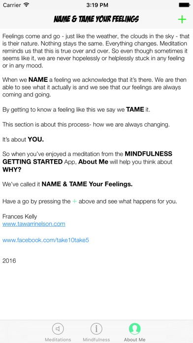 Mindfulness Getting Started screenshot four