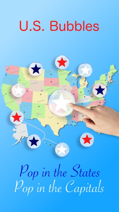 US bubbles lite the States Capitals map quiz on the App Store