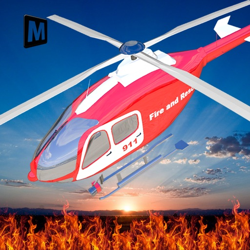 Fire Helicopter Rescue Simulator 2016 iOS App