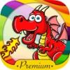 Dragons coloring book & paint fantastic animals Premium