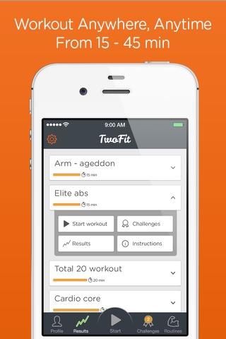 Time Trial Workout - short sharp home workouts screenshot 2