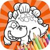 dinosaurios libros para colorear juegos pintura fingerpaint para los niños
