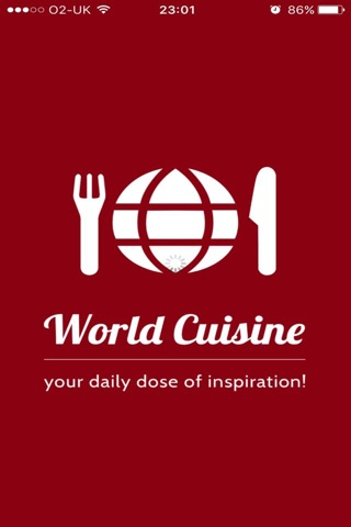 World Cuisine: your daily dose of inspiration! screenshot 1