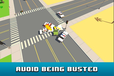 Smashy Car Race 3D: Pixel Cop Chase Full screenshot 4