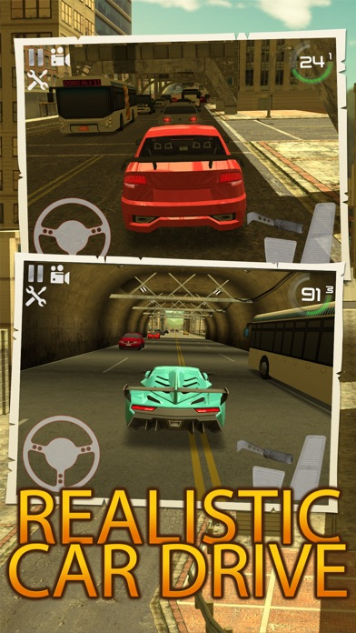 Screenshots of City Traffic Car Driving Parking Career Simulator for iPhone