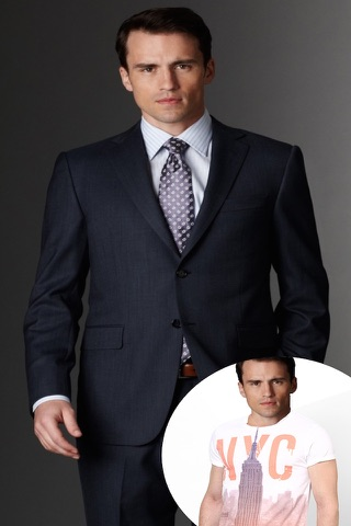 Man Fashion Suit Photo Montage screenshot 1