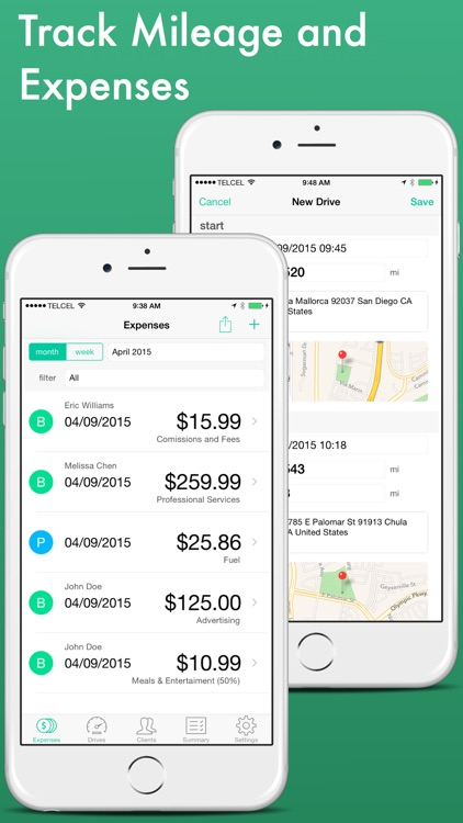 rex expense tracker mileage log for real estate agents by upcode