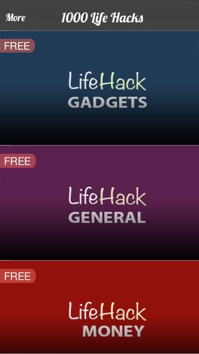 Screenshots of 1000 Life Hacks & Tips free for iPhone