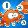 Aktiv! Zählen Spiel Für Kinder Mit Meerestieren Zu Erlernen Zu Zählen