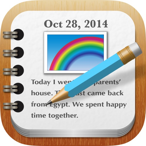 Calendar Notebook App : Rainbownote notebook diary with photo calendar