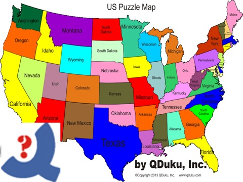 US Puzzle Map Game On The App Store - Map of the us game
