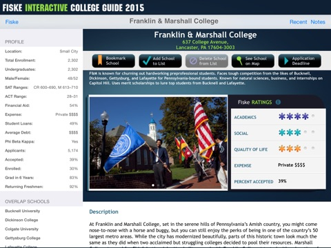 Fiske Interactive College Guide 2015 screenshot 2