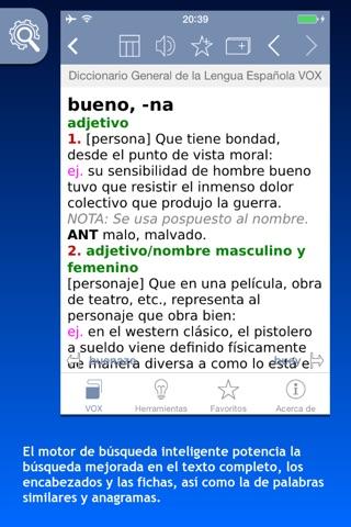 Diccionario General de la Lengua Española VOX screenshot 1