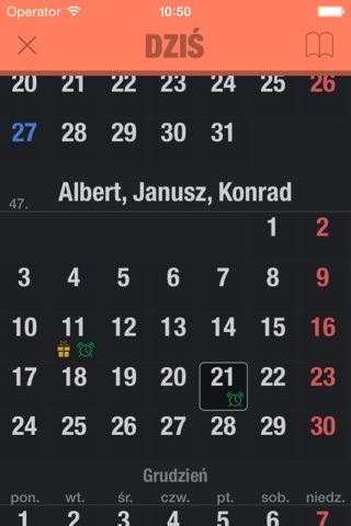 Kalendarz imion PL screenshot 3