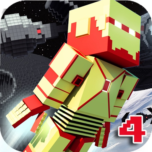 Block Iron Robot 4 - Space Survival & Worldwide Multiplayer with skin exporter for Minecraft