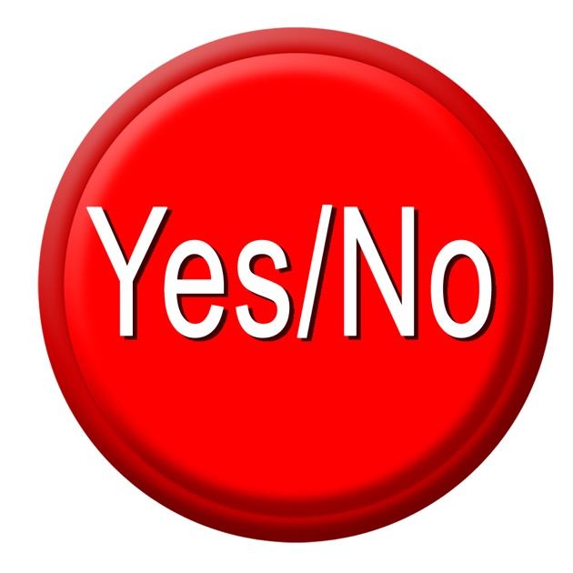 Yes / No Button on the App Store