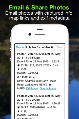 Solocator - GPS Field Camera to stamp photos with location, direction, altitude, date, time + optional editable notes screenshot 3