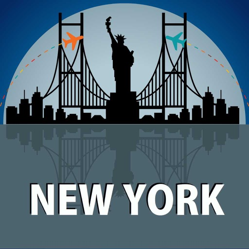 new york travel guide offline map by velugu kasirao. Black Bedroom Furniture Sets. Home Design Ideas