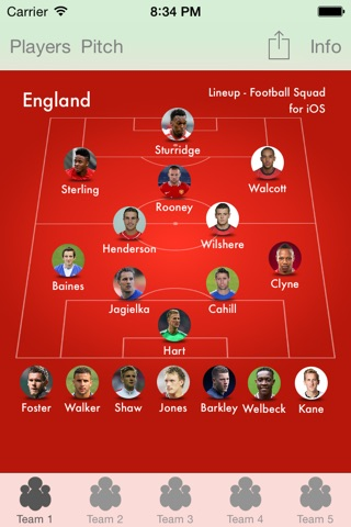 Lineup - Football Squad screenshot 3