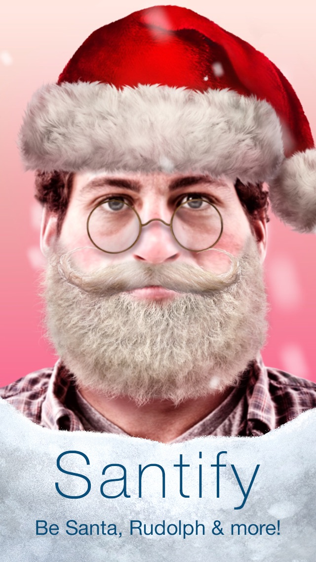Santify - Make yourself into Santa, Rudolph, Scrooge, St Nick, Mrs. Claus or a Christmas ElfScreenshot of 1