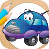 Pintar coches - juego educativo para niños de colorear cars o carros y autos con el dedo