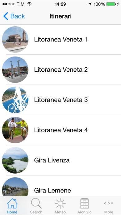 Screenshot of Venezia Orientale in Bici2