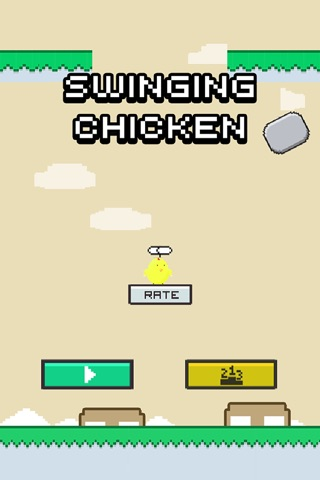 Swinging Chicken - Endless Arcade Hopper screenshot 1