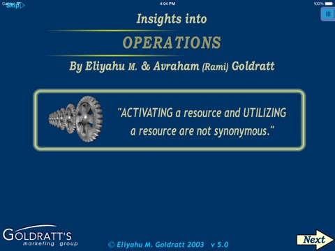 the goal by eli goldratt and operations management decisions The theory of constraints (toc) is an overall management philosophy introduced by eliyahu m goldratt in his 1984 book titled the goal, that is geared to help organizations continually achieve their goals.