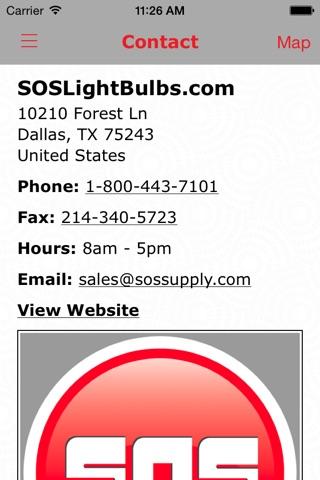 Screenshot of SOSLightBulbs.com