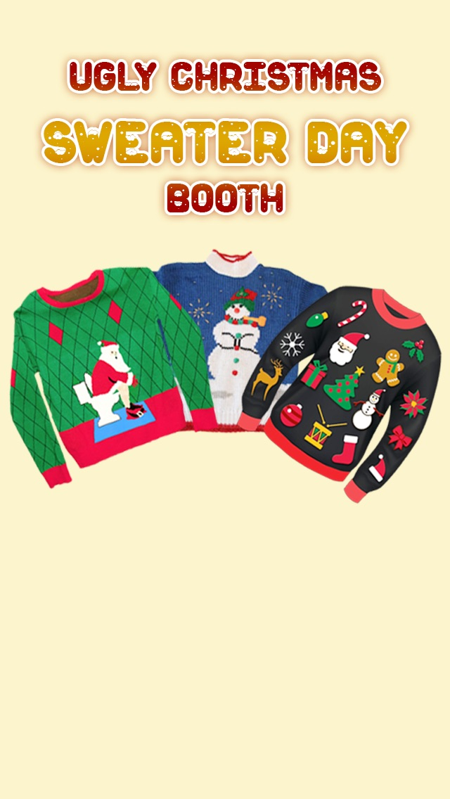 Ugly Christmas Sweater Day Booth app