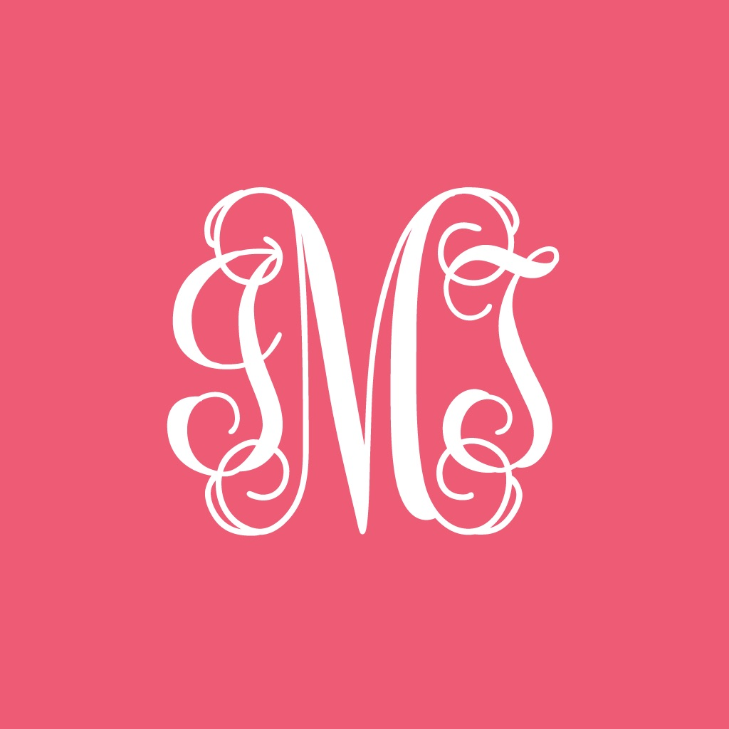 monogram iphone wallpaper app download