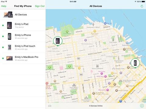 Zoek mijn iPhone Screenshot