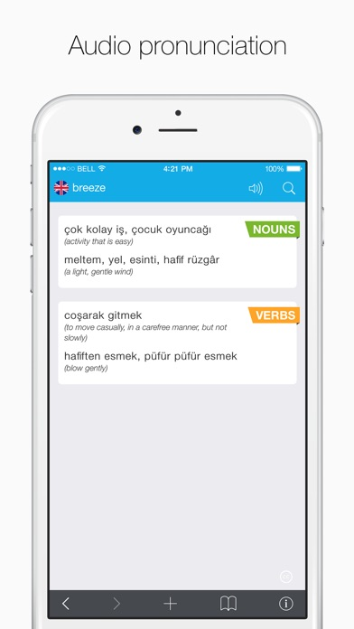 Turkish – English Dictionary Screenshots