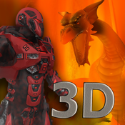 Red Dragon Robot Attack - An Epic 3D Arial battlefield apocalypse icon