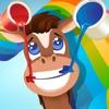 123 Libro da colorare dei cavalli per bambini: gioco con molte immagini come pony, cavallo, equestre, stallone e più