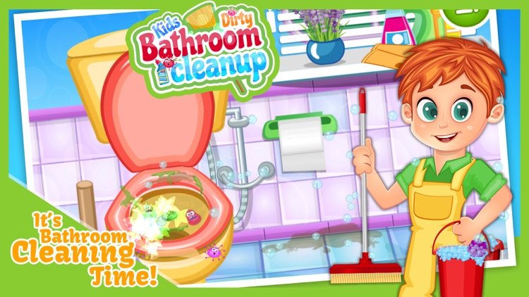 Kids Dirty Bathroom Cleanup   Mommyu0027s Little Helper Washing U0026 Cleaning The  Messy Toilet