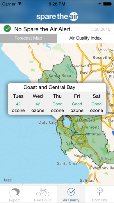 Spare the Air Bay Area on the App Store