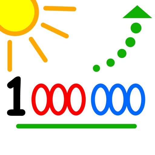 Count up to 1 million - by LudoSchool iOS App