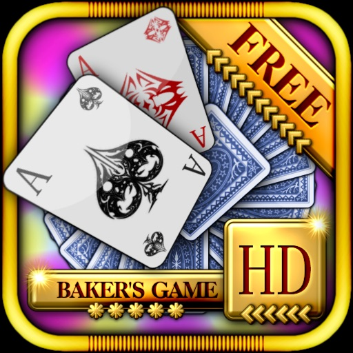 Baker's Game Solitaire HD Free - The Classic Full Deluxe Card Games for iPad & iPhone iOS App