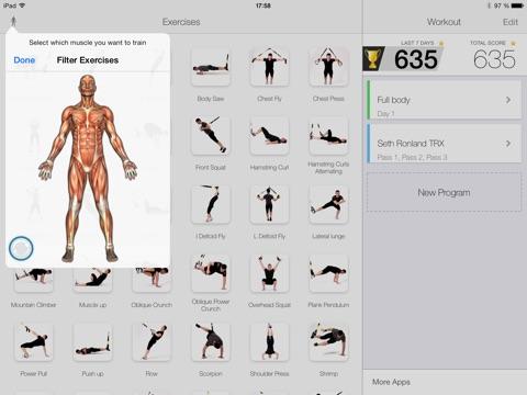 Virtual Trainer Suspension Screenshot