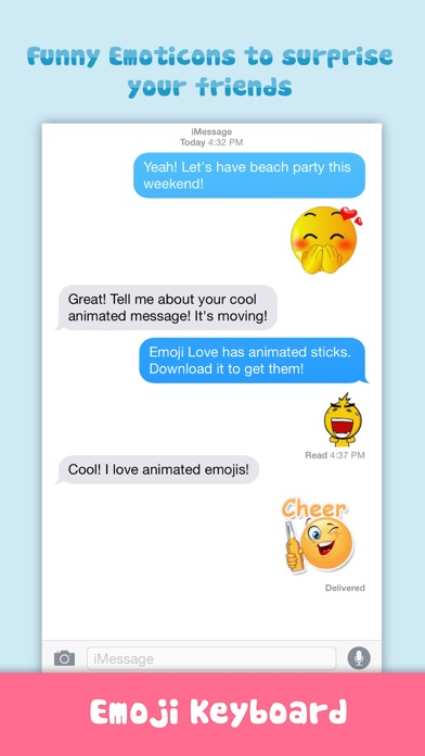 download Emoji Love PRO - Animated Funny Emoticons - Cool Characters & Emoji Keyboard Icons & Emojis Stickers for Chatting apps 2